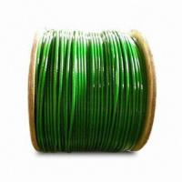 China PVC-coated Galvanized Steel Wire Rope, Available in Different Sizes wholesale