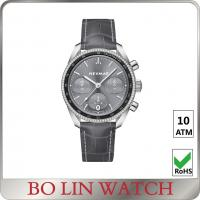 China Shower waterproof mens dress watches grey color with CNC diamonds wholesale