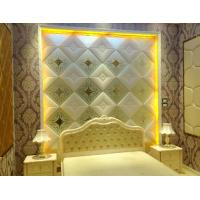 Quality 7 mm Translucent Glass Panels Diamond Shape / Painted Decorative Wall Glass for sale