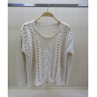 China Long Sleeve Ladies V Neck Sweaters Jacquard Pullover Sweater Autumn wholesale