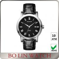 Swiss Movement Leather Band Bracelet Watches Witn Stainless Steel Crown