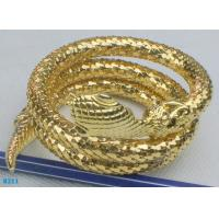 China Snake fashion bangles, bronze cuff bracelet with gold plated wholesale