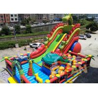 China Animal World Theme Inflatable Jungle Bounce Playground Combo For Commercial Rental wholesale