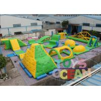 China Yellow Green Inflatable Floating Water Sport Park For Summer Aqua Fun Sea Lake wholesale