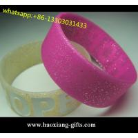 China new products arts and crafts rubber gift silicone bracelet for promotional gift wholesale