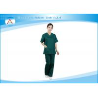 China Fashionable Medical Scrubs Uniforms , Nurse Smocks Surgical Green wholesale