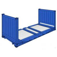 China Shipping Used Flat Rack Containers 20 Feet Payload 28000kg For Warehousing wholesale