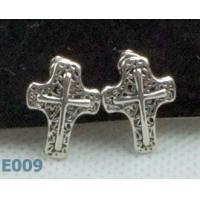 China Tin Alloy Women's Fashion Charm Jewelry Sterling Silver Zirconia Stud Earrings wholesale