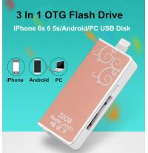 3 in 1 Smartphone OTG USB3.0 Flash Drives 8GB-16GB-32GB-64GB i-Flash-Drive Memory Stick pen drive for iPhone 6S 6 5s