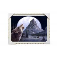 China CMYK 3D Wolves Image Lenticular 3d Pictures PS Frame For Office Decoration wholesale