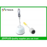 China Simply Design White Plastic Toilet Brush And Holder Multi Purpose HT1020 wholesale