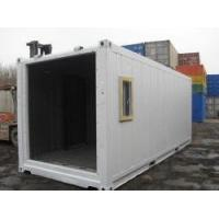 China 20gp Steel Large Prefab Shipping Container House White Withstand Extreme Temperature -40 °C To 70°C wholesale