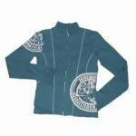 China Women's Coat with Foam Printing and Zipper Closure wholesale