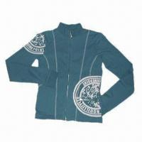 Quality Women's Coat with Foam Printing and Zipper Closure for sale