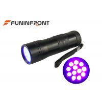 China 12 LEDs Black Light 395NM UV LED Flashlight for Nail Polish, Scorpion Hunt wholesale