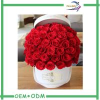 China Romantic Flower Gift Boxes Round Shaped for Wedding / Party Flower Packaging wholesale