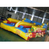 China Bungee Inflatable Sport Game 10.7 * 4.6 * 2.4 m Jumping Trampoline 0.55mm PVC wholesale