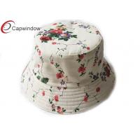 Quality Lady Classical Fisherman Bucket Hat Allover Flower Pattern Printing for sale