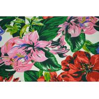 China Natural Cotton Fabric / 16OZ Cotton Canvas With Nice Flower Printing wholesale