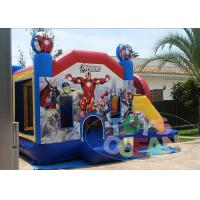 China Custom Commercial Inflatable Bounce House , Super Hero Combo Bouncer House For Rental wholesale