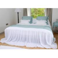 China Ruched Real Simple Modern Duvet Covers 4 Pcs 100% Linen Country Style on sale