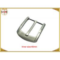China Simple Custom Gunmetal Plating Metal Belt Buckle for Men 40MM Pin Style wholesale