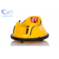 Quality Yellow Commercial PP Plastic Children Bumper Car for sale