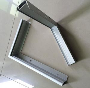 China Customeized Aluminum Frames For Solar Panels , Oxidation Aluminum Extrusion Profiles wholesale
