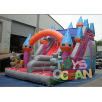 China Customizable PVC Inflatable Castle With Two Lane Dry Slide For Kids Outdoor Play wholesale