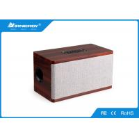 China All In One Cloth Bluetooth Speaker Wireless Music Player With Wooden Shell wholesale