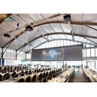 China Dome Shape Large Exhibition Tents Outdoor With Glass Wall 15m * 25m PVC Fabric wholesale