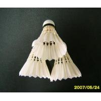 China Grade Three of Goose Feather Shuttlecock wholesale