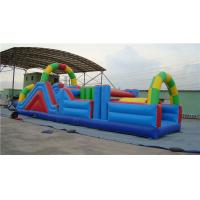 China Fun Inflatable Water Obstacle Course Water Slide For Birthday Party Abrasion Proof wholesale