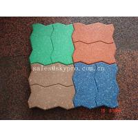 China Interlocking Outdoor rubber paver support black / red / green / blue wholesale