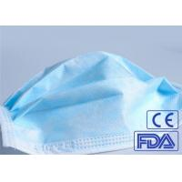 China Anti Germs 3 Ply Disposable Medical Face Mask Breathable With Elastic Earloop wholesale
