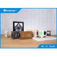 China DC 5V/500mA Wooden Wireless Speakers / Portable Bluetooth Speaker Alarm Clock wholesale