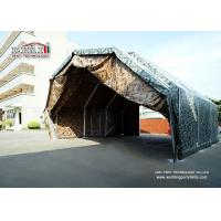 China Military Aircraft Hangar Tent Structure with Aluminum Frame and Green PVC wholesale