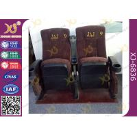 China Ergonomic Cinema Hall Auditorium Seating / Movie Theater Chairs With Soft Cushion wholesale