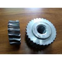 China Customized Precision forged metal worm Gear Hobbing Services support  zinc plated wholesale