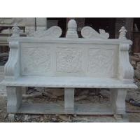 China Garden Stone Bench with Back wholesale