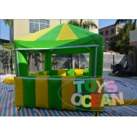 China Green Inflatable Tents Playground Candy Floss Tent Popcorn House For Advertising wholesale