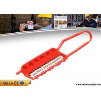 China CE Red Lock Out Tags Nylon Material Non - Conductive Hardened Steel Lockout Hasp on sale