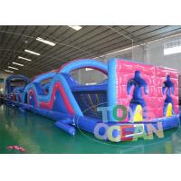 China 29M Tunnel Simple Inflatable Obstacle Course For Adults Barriers Challenge wholesale
