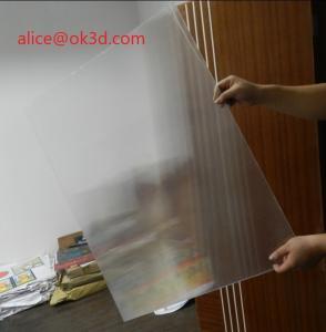 China Offset press machine 0.18mm 200 Lpi, 51x71cm 3D Film Lenticular Lens Sheet for UV offset printer annd injekt prin wholesale