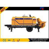 China 0.6M3 Hopper Volume Diesel Concrete Pump PLC Control With Air Cooling System wholesale