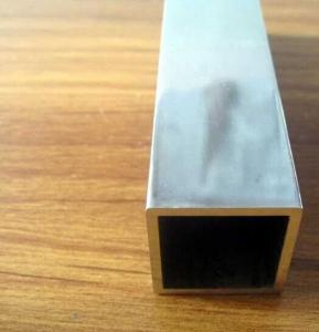 China Customized Length 6061 6063 Extruded Aluminium Tube / Black Anodized Aluminum Tubing wholesale