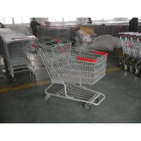 Quality Singel Basket Supermarket Shopping Cart With Low Rack Welded for sale