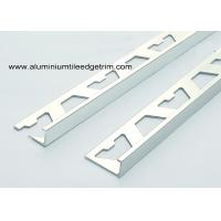 Buy cheap Flat 8mm Chrome Aluminium Tile Edge Trim / Bathroom Tile Corner Trim from wholesalers