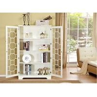 China Natural Wood White Bookcase With Doors , Safely Store Your Favorites wholesale