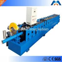 China Rainspout Downspout Roll Forming Machine Fly Saw Cutting 100mm Or Customized Diameter wholesale